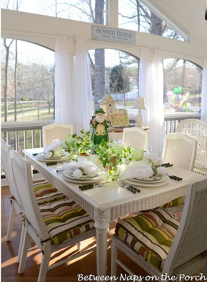 Shamrock Tablescape